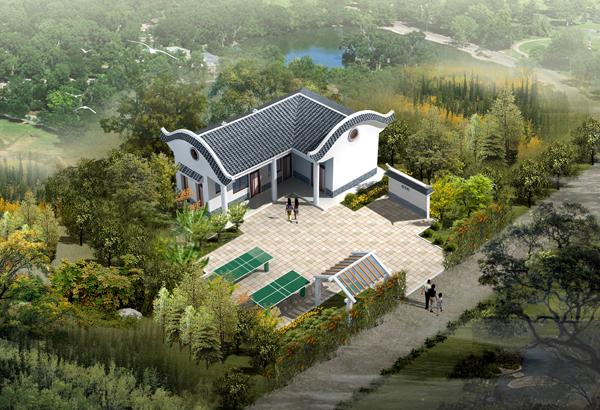 平房室内装修效果图 家就在青山绿间 农村三间平房设计图
